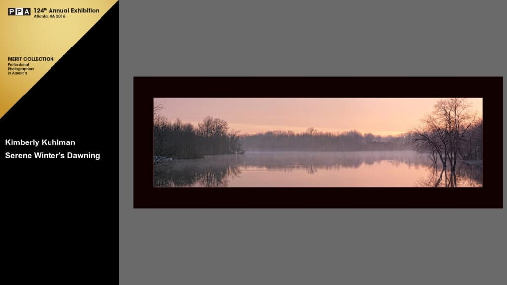 Serene Winter's Dawning 2015 International Photographic Competition Merit